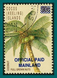 Cocos 1991 Palm Tree Official, CTO O1,SGO1