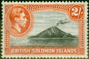 Solomon Islands 1939 2s Black & Orange SG69 Fine Mtd Mint