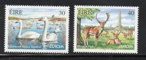 Ireland Sc 1174-75 1999 Europa, Parks,  stamp set mint NH