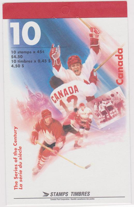 Canada USC #BK201b Open Cover 1997 Hockey Series of the Century V F-NH - VF-NH