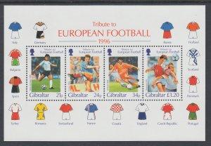 Gibraltar 710a Soccer Souvenir Sheet MNH VF