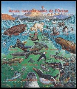 1998 UN Geneva 334-345KLused Sea fauna 8,00 €