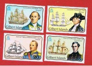 Gilbert Islands #296-299  MNH OG  Explorers  Free S/H