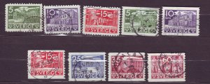 J22833 JLstamps 1935 sweden set used #239-47 designs