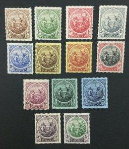 MOMEN: BARBADOS SG #181-191,199-200 1916-19 MINT OG H LOT #192430-1144
