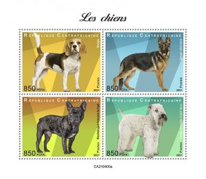 C A R - 2021 - Dogs - Perf 4v Sheet - Mint Never Hinged