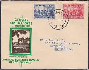 AUSTRALIA 1937 NSW 2d & 3d on FDC - GOOMERI QLD cds........................53798