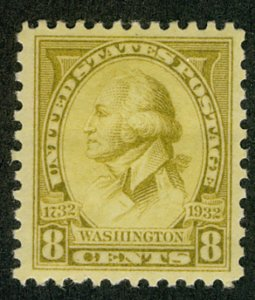 US #713 SUPERB mint never hinged, a perfect stamp,  seldom seen so well cente...