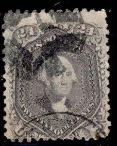 US Stamp #78 24c Lilac Washington USED SCV $400