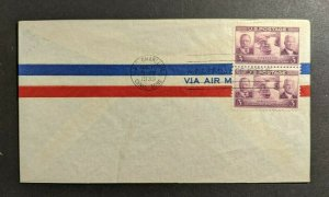 1939 USS Charleston Canal Zone FDC Airmail Cover Scott 858