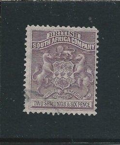 RHODESIA 1892-93 2s6d GREY-PURPLE FU SG 6 CAT £55