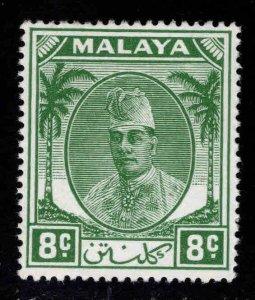 MALAYA Kelantan Scott 66 MH* Sultan Ibrahim stamp