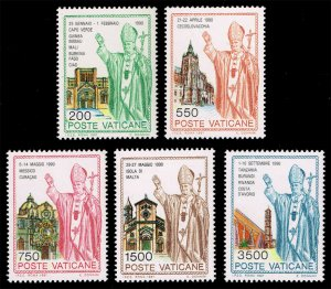 Vatican City #890-894 Journeys of John Paul II Set of 5; MNH (5Stars)