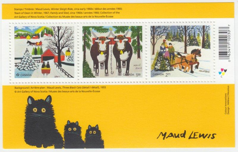 Canada -  *NEW* CHRISTMAS, Maud Lewis Paintings, 2020 Souvenir Sheet - MNH