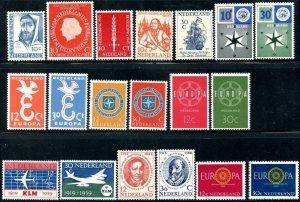 NETHERLANDS Sc#365//403 1954-1963 Sixteen Complete Sets OG Mint Most NH