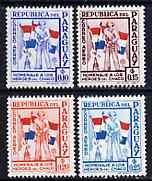 Paraguay 1957 Soldiers & Flags 4 values from \'Chako ...