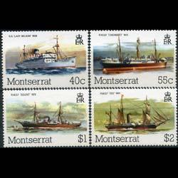 MONTSERRAT 1980 - Scott# 428-31 Ships Set of 4 NH