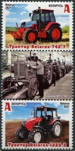 Belarus 2021. Tractors Made in Belarus (III) (MNH OG) Block