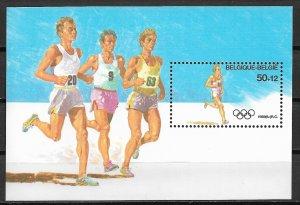 1988 Belgium B1074  Summer Olympics. Seoul MNH S/S