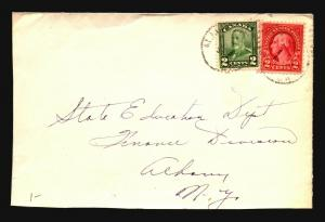 Canada Early 1900s Mixed Franking US / Canadian Cover - Z15392