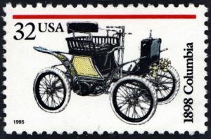 SC#3021 32¢ Antique Automobiles: 1898 Columbia Single (1995) MNH