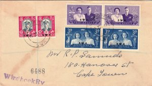 SWA,#156-158,1947,FDC,Size15cmX9.3cm,Up to 5 same size in 1 letter