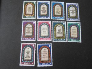Anguilla 1983 Sc 526-35 Christmas Religion set MNH