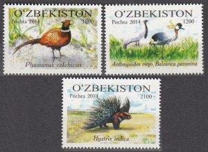 2015 Uzbekistan 1095-1097 Fauna 9,50 €