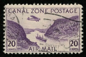 Canal zone postage, 20 cents, 1931-1949, Gaillard Cut, YT #PA8 (Т-4613)