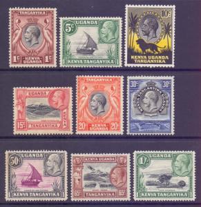 KUT Scott 46/54 - SG110/118, 1935 George V 1c - 1/- MH*
