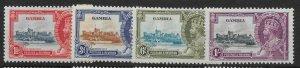 GAMBIA SG143/6 1935 SILVER JUBILEE SET MNH