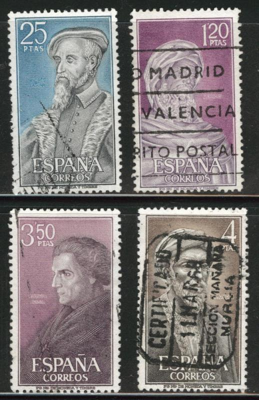 SPAIN Scott 1461-1464 Used 1967 Physician set
