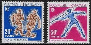 French Polynesia Scott #'s 203 - 204 MNH
