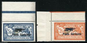 FRANCE SCOTT# C1-2 YVERT# A1-2 MINT NEVER HINGED WITH SELVEDGE, BEAUTIFUL