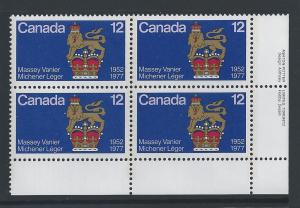 Canada #735 LR PL BL Canadian Governors General 12¢ MNH4