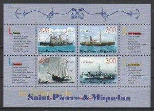 1999 St. Pierre and Miquelon - Sc 683 - MNH VF - 1 MS - Ships