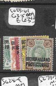 BECHUANALAND  (P2708B) QV SG 59-61, 63-5  MOG