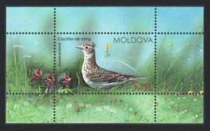 Moldova Skylark Bird and Chicks MS MI#927