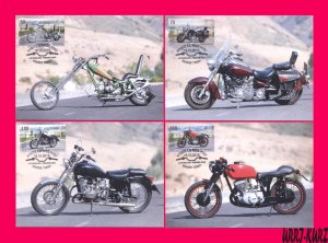 KYRGYZSTAN 2019 Technics Transport Motorcycles Motos Bikes 4 Maximum Cards