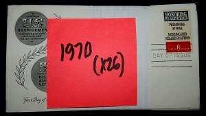 FDCs - 1970 COMMEM YEAR SET - x26 - see photo
