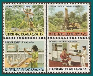 Christmas Island 1980 Phosphate I, MNH  95-98,SG122-SG125