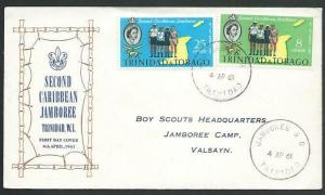 TRINIDAD 1961 SCOUT Jambroo cover - skeleton cancel........................58354