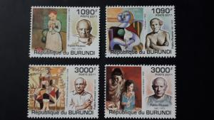 Burundi 2011. - Art - Pablo Picasso ** MNH complete set (perforated)