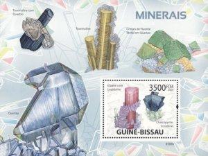 Guinea-Bissau MNH S/S Quartz Minerals Sciences 2009