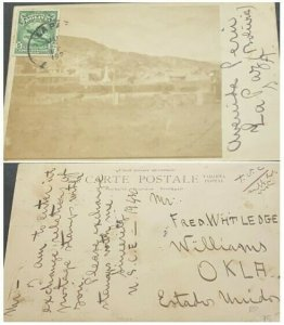 A) 1936, BOLIVIA, POSTCARD, SHIPPED TO OKLA-UNITED STATES, XF