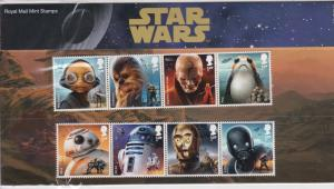 Star Wars 2017 Droids Mint Never Hinged Complete Set of Eight Stamps Ref 28072