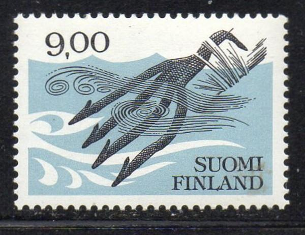 Finland Sc 640 1984 Fish Spear stamp mint NH