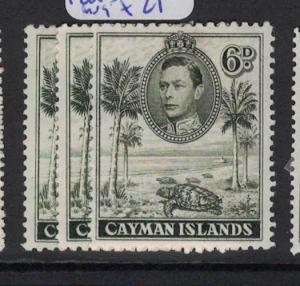 Cayman Islands SG 122,122a,122b Turtle MOG (9dph)