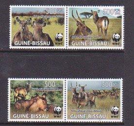 Guinea-Bissau MNH Set Fauna WWF 2008