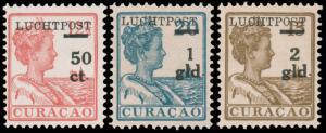 Netherlands ANTILLES 1929 50c-2g AIR POST SURCHARGES MINT #C1-C3 LH CV$68.50 ...